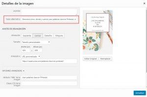 Cómo configurar el alt text de una imagen