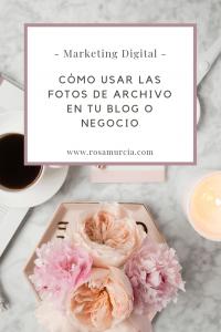 Usa tus imágenes de stock o fotos de archivo para tu blog y negocio y mejorar tu marca personal