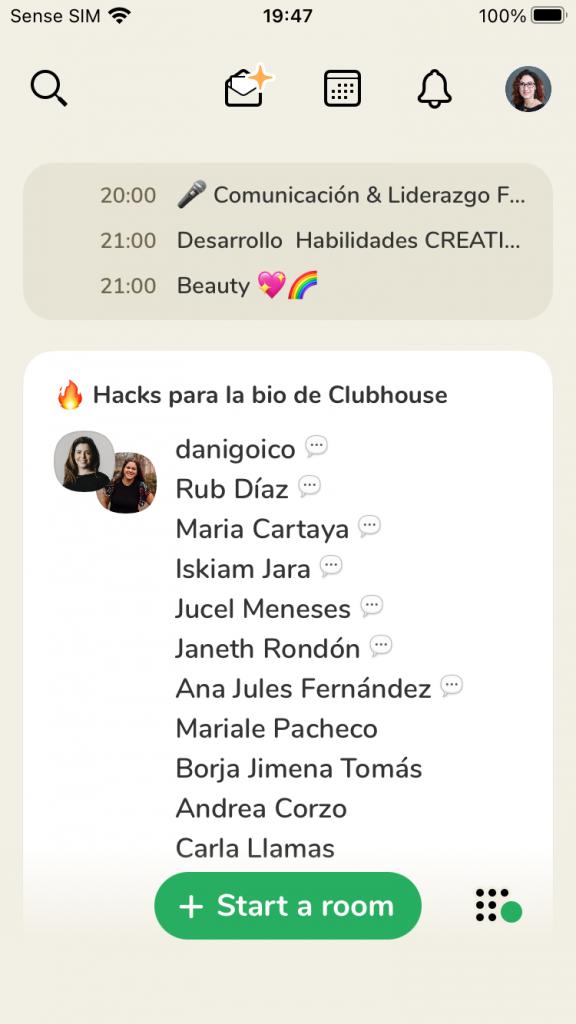 Clubhouse drop-in audio principal