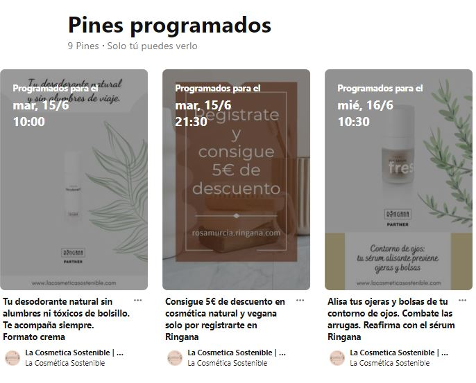 Pinterest ofrece un eficaz programador de pines a tu disposición cuando creas un pin nuevo.